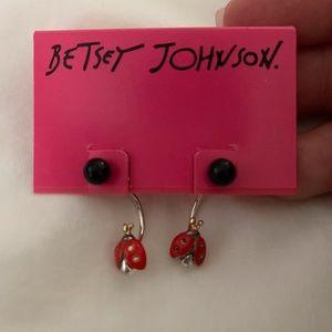 Brand New Betsey Johnson Ladybug Earrings